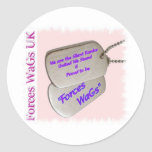 Forces WaGs UK Round Sticker