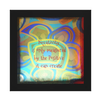 Forcing A Positive Negative Stretched Canvas Prints