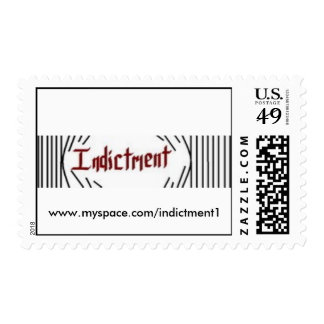 Forcover, www.myspace.com/indictment1 postage stamp