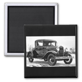 Ford 1930 modela un cupé - B&W Imán Cuadrado