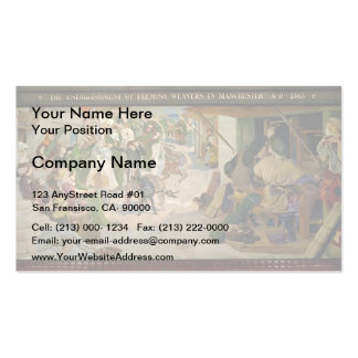 Ford Brown-Establishment of the Flemish Weavers Double-Sided Standard Business Cards (Pack Of 100)