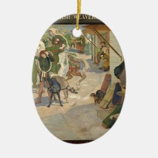 Ford Brown-Establishment of the Flemish Weavers Christmas Ornament
