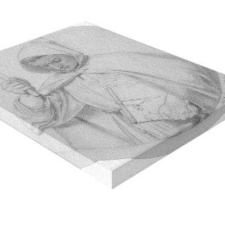 Ford Brown: Estudio de un monje Impresión En Lienzo Estirada