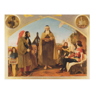 Ford Brown-John Wycliffe reading Bible translation Postcard