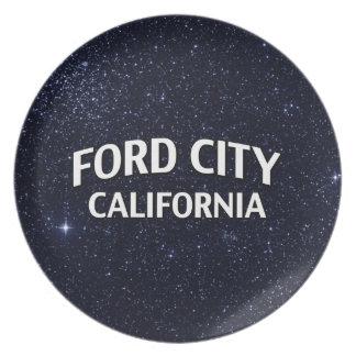 Ford City California Dinner Plates
