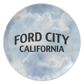 Ford City California Party Plates