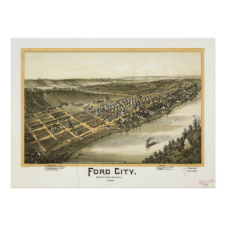 Ford City Pennsylvania (1896) Poster