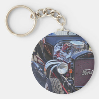 Ford Classic Vintage Hot Rod HDR Picture Photo T Key Chain