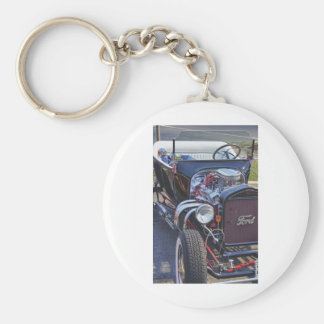 Ford Classic Vintage Hot Rod HDR Picture Photo T Key Chains