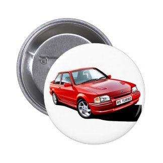 Ford Escort RS Turbo Pinback Button