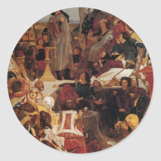 Ford Madox Brown- Chaucer at Court of Edward III Sticker