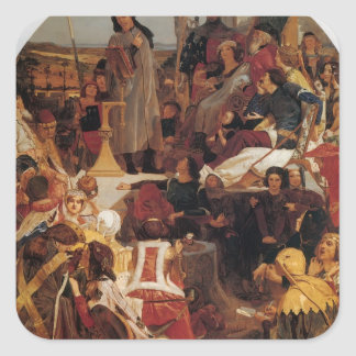 Ford Madox Brown- Chaucer at Court of Edward III Stickers