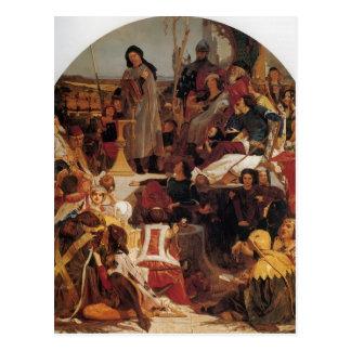 Ford Madox Brown Chaucer en la corte de Edward III Tarjetas Postales