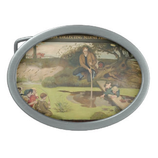 Ford Madox Brown: Dalton Collecting Marsh Fire Gas Oval Belt Buckles