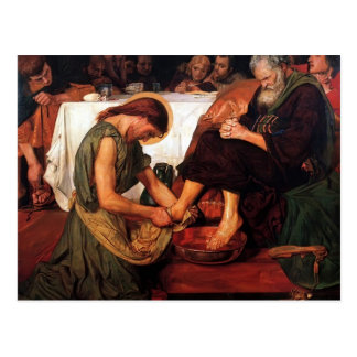 Ford Madox Brown Jesús que lava los pies de Peter Tarjetas Postales