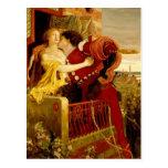 Ford Madox Brown: Romeo y Juliet Tarjeta Postal