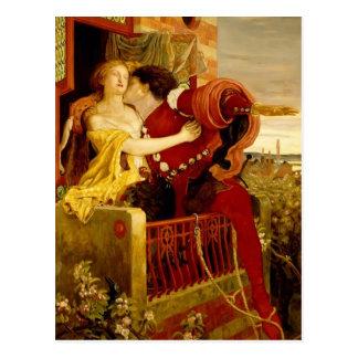 Ford Madox Brown: Romeo y Juliet Tarjetas Postales