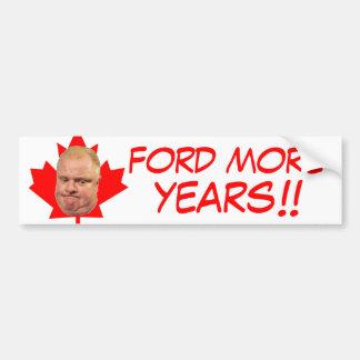 ¡Ford más años!! Etiqueta De Parachoque