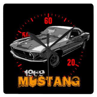Ford Mustang Square Wallclocks