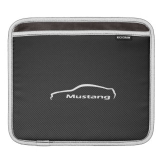 Ford Mustang Logo with Faux Carbon Fiber Sleeve For iPads