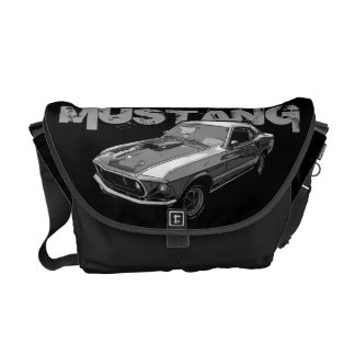Ford Mustang monocrome Messenger Bag