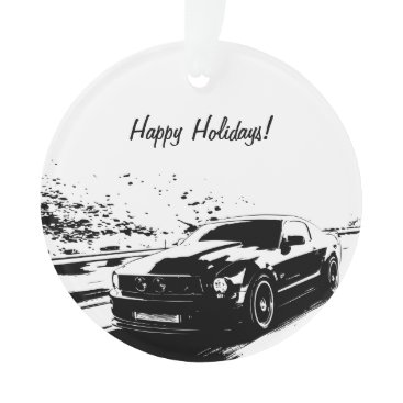 fordfanmerch Ford Mustang Rolling shot - Personalized Ornament