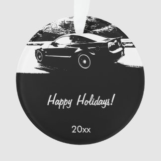 Ford Mustang Rolling shot - Personalized Ornament