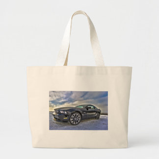 Ford Mustang Sky Clouds Fun Sports Racing Fast Car Tote Bag