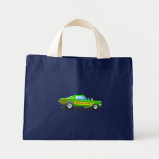 Ford Musttang Funny Car Tote Bag