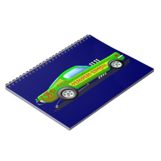 Ford Musttang Funny Car Spiral Notebook