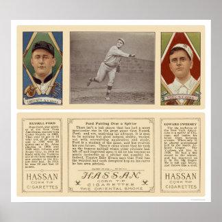 Ford Pitching Yankees Baseball 1912 Poster