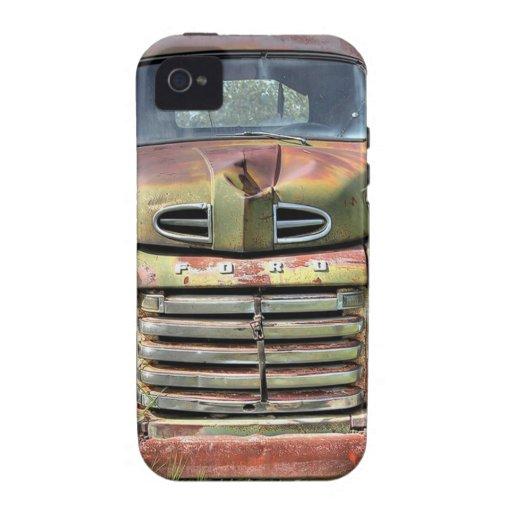 Ford rústico viejo coge oxidado retro del vintage Case-Mate iPhone 4 carcasas