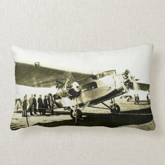 Ford Trimotor Transport Aircraft Vintage Pillow