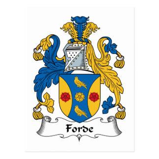 Forde Family Crest Postcard