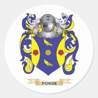 Forde (Ireland) Coat of Arms Round Sticker
