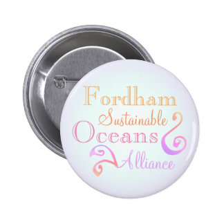 Fordham Sustainable Oceans Alliance Rainbow Pinback Button