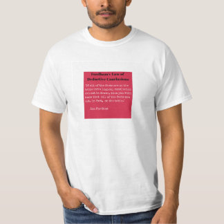 Fordham's Law of Deductive Conclusions T-Shirt