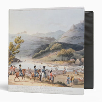 Fording of the River Mondego,engraved by C. Binder