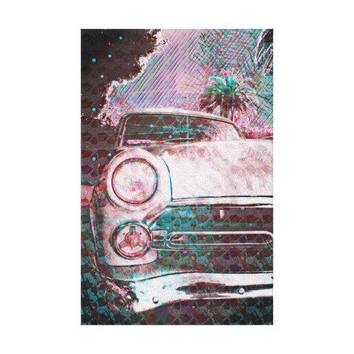 fordstradamus - old school car in sanfrancisco gallery wrap canvas