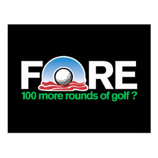 Fore 100 more rounds of Obama Golf anyone? Postcard