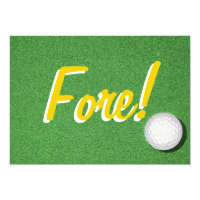 Fore - 50th Golf Birthday Party Invitation