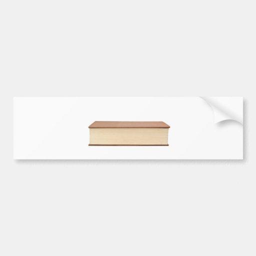 Fore edge of a book bumper sticker