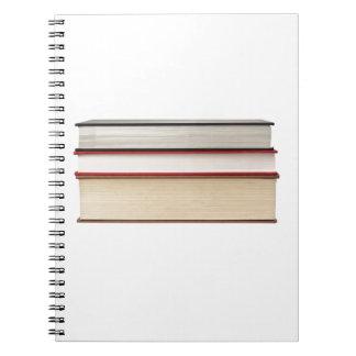 Fore edge of three books notebooks