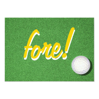Fore Golf Birthday Party Card