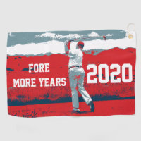 Fore More Years Donald Trump Golf Towel
