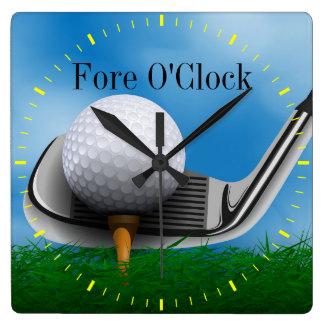 Fore O'Clock Golf Sports Clock - SRF