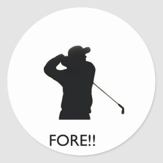 Fore Classic Round Sticker
