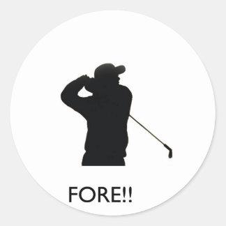 Fore Round Sticker