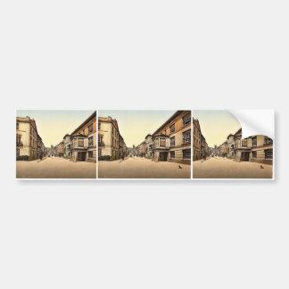 Fore Street, Totnes, England classic Photochrom Bumper Sticker