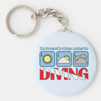 Forecast for Diving Basic Round Button Keychain